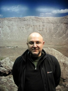 Cesare Pastorino Experiencing the Impact at Meteor Crater, Arizona
